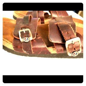 NOAT sandals. Rare GratefulDead buckle